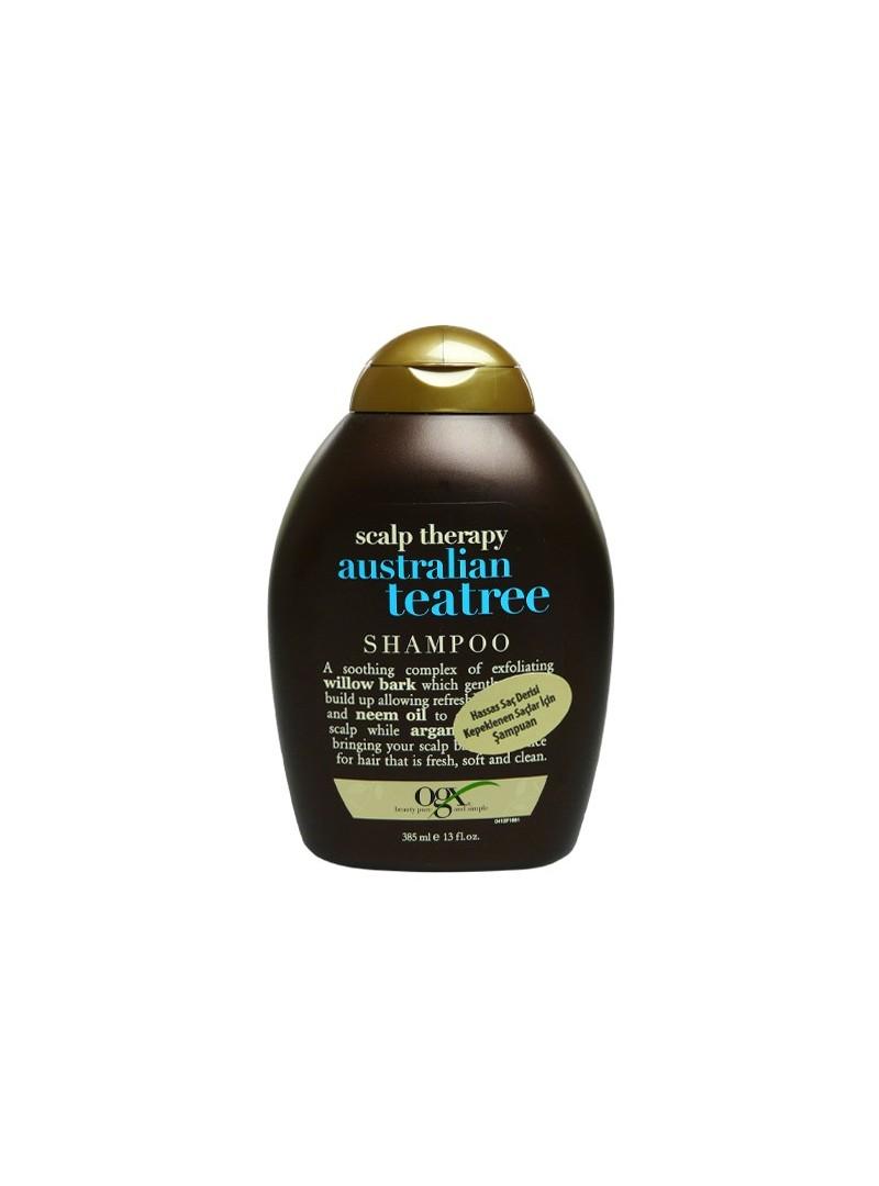 Organix Scalp Therapy Australian Teatree Shampoo 385 ml Hassas Saç Derisi ve Kepeklenen Saçlar için Şampuan