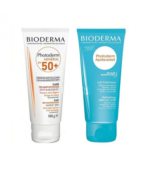 Bioderma Photoderm Mineral Spf 50+ 100ml - Bioderma Apres Soleil Güneş Sonrası Sütü 100 ml Hediyeli