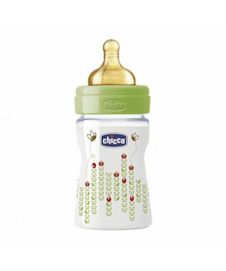 Chicco Wellbeıng PP Biberon Unisex  150 ml Kauçuk Normal Akış