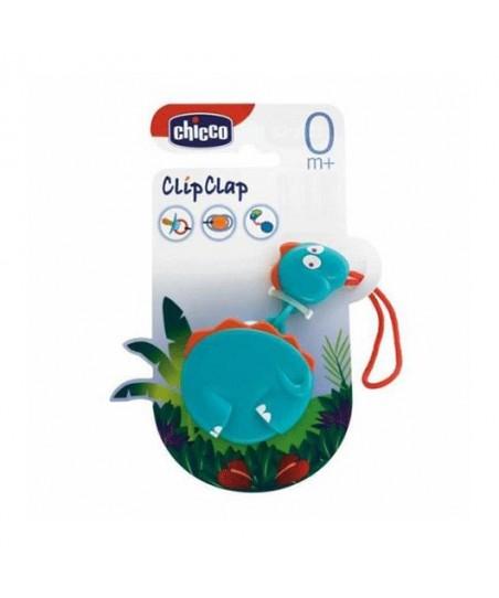 Chicco Clip Clap Hayvan Figürlü Emzik Tutacı-Dino