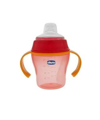 Chicco Soft Cup 200 ml Alıştırma Bardağı Turuncu