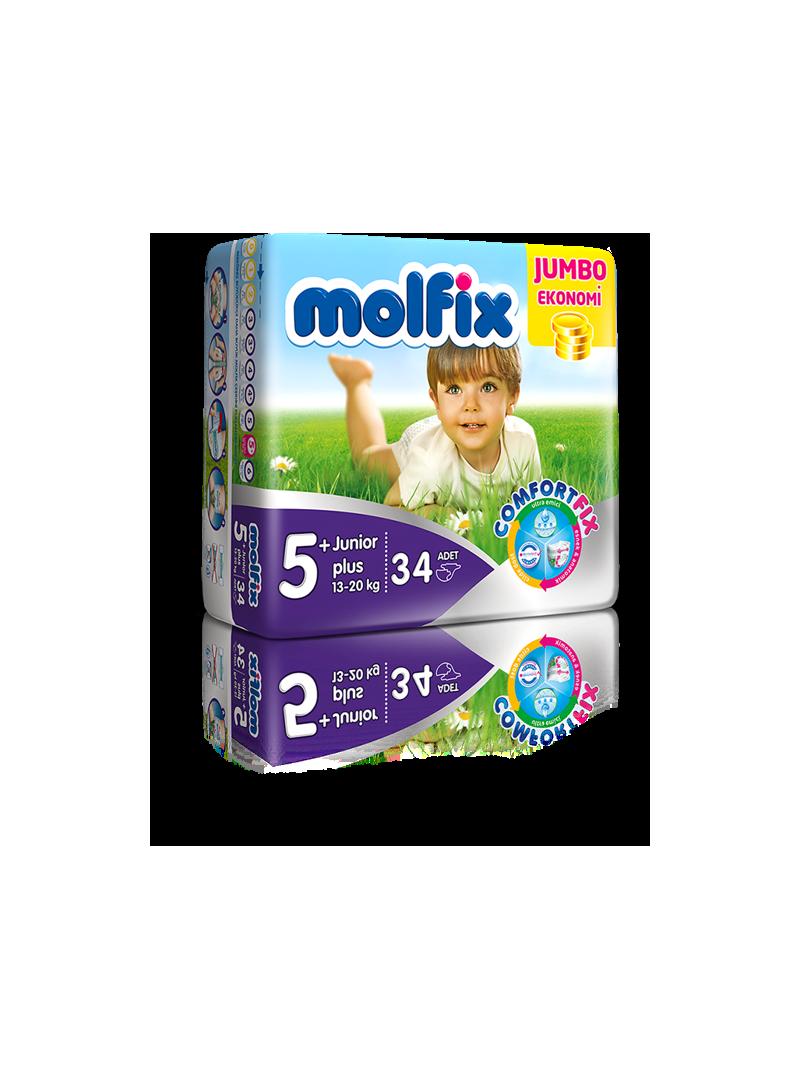 Molfix Jumbo Paket Junior Plus 5+ Beden 34 Adet Bebek Bezi