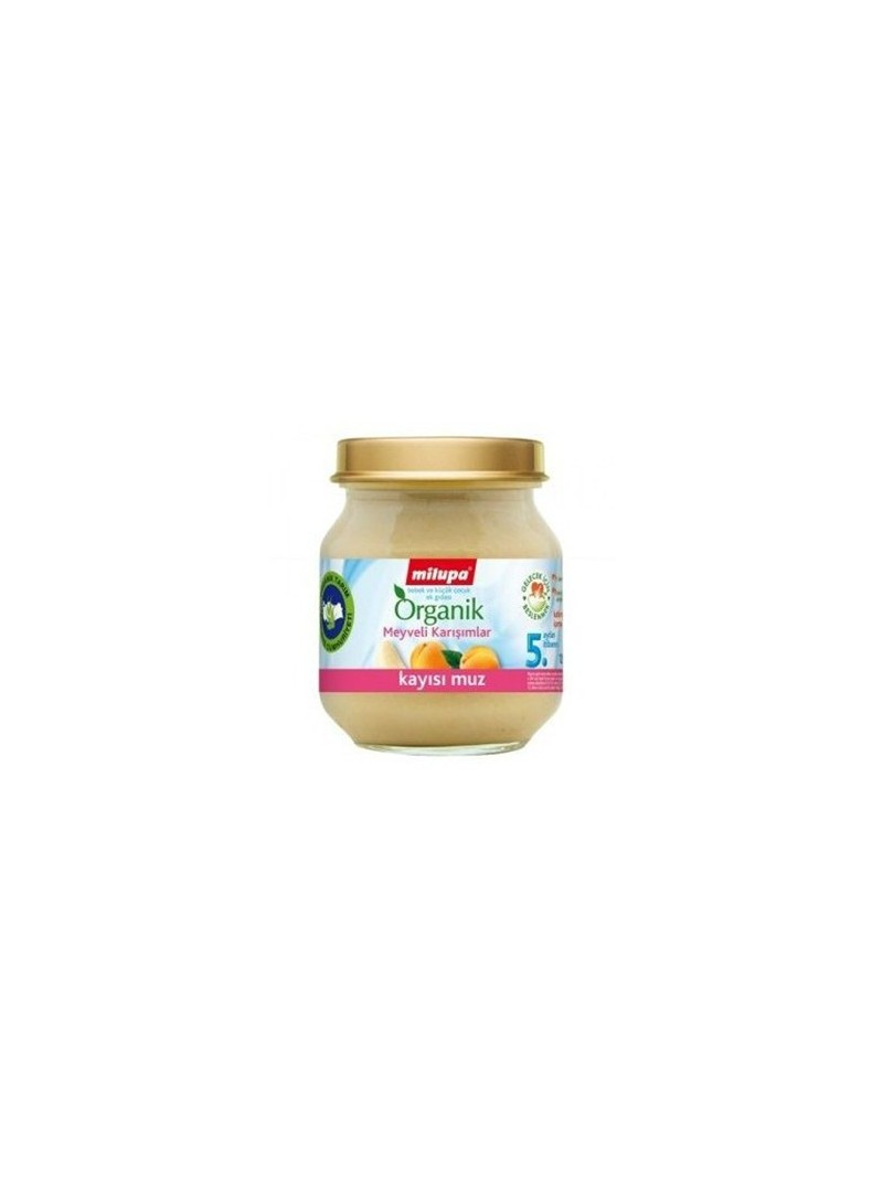 Milupa Organik Kayısı Muz Kavanoz 125 gr