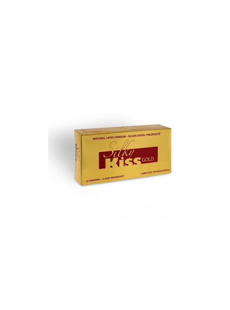 Silky Kiss Gold Klasik Doğal Prezervatif Kayganlaştırıcılı 12 li