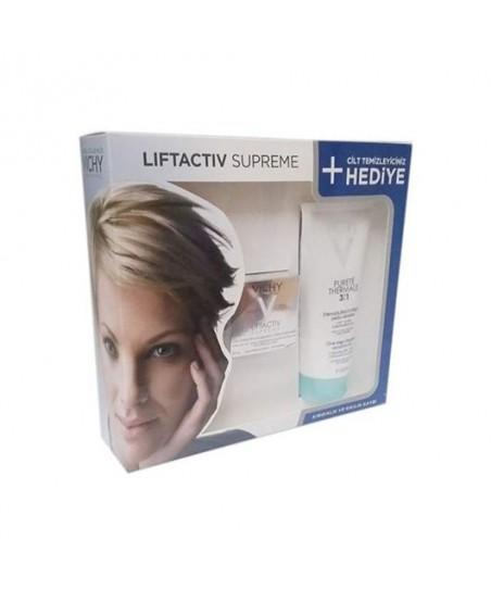 Vichy Liftactiv Supreme Cream Normal ve Karma Ciltler için Kofre - Purete Thermale Temizleyici 200ml Hediye