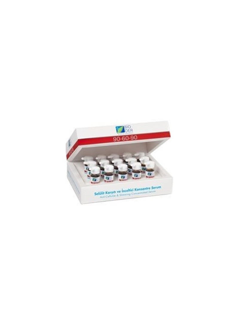 Bioder 90-60-90 Selülit Sorunlarında ve İnceltmede Yardımcı Konsantre Serum 15x10 ml