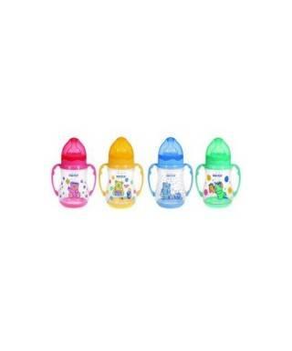 Bebedor 89322 Desenli Geniş Ağızlı Kulplu Silikon Biberon 250 ml