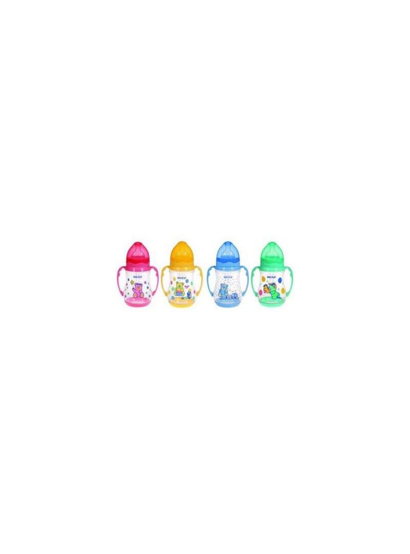 Bebedor 89322 Desenli Geniş Ağızlı Kulplu Silikon Biberon 150ml