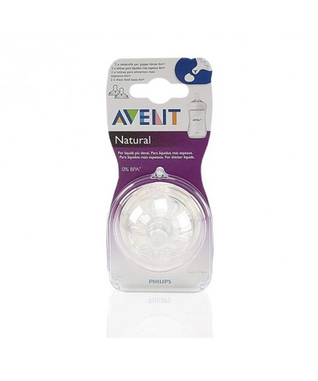Avent SCF656/27 Y Kesik Natural Biberon Emziği 6M+ 2'li