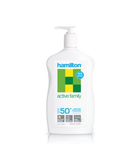 Hamilton Active Family Losyon SPF50+ 500ml