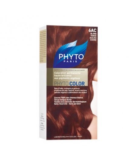 Phyto Color Saç Boyası 6AC Akaju Bakır Koyu Sarı (Blond Fonce Acajou Cuivre)