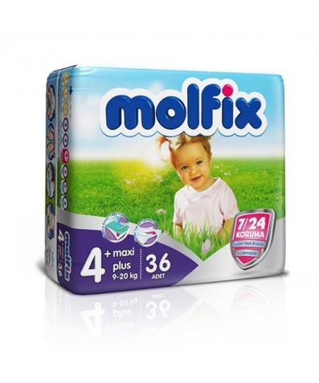 Molfix 4x4 Uyum İkiz Maxi No:4+ (9 - 20 kg) 36lı