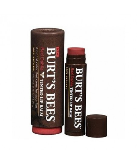 Burts Bees Tinted Lip Balm 4.25g - Red Dahlia- Dahlia Rouge