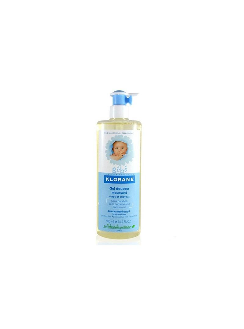 Klorane Bebe Saç ve Vücut Jel Şampuanı 500 ml - Bebek Temizleme Mendili 25 adet Hediye