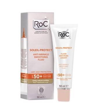 RoC Soleil Protect Kırışık Karşıtı Güneş Koruyucu Likit Yüz Nemlendiricisi SPF 50+