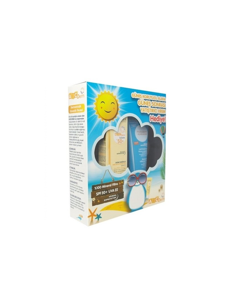 Bioderma ABCDerm Mineral Sun Cream SPF50 - Photoderm After Sun Milk 100ml HEDİYE