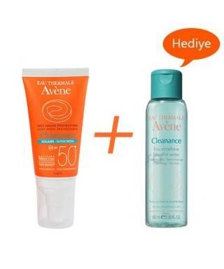 Avene Cleanance Solaire Spf30 50 ml - Avene Cleanance Cleansing Water 50ml Hediye