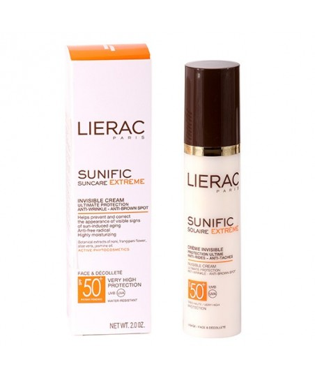 Lierac Sunific Suncare Extreme Invisible Cream Spf50 50ml