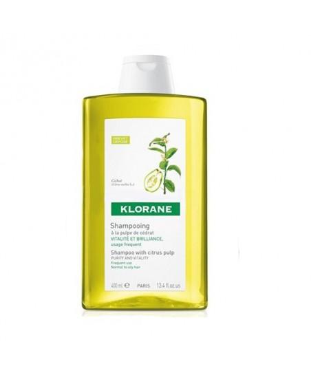 Klorane Cedrat Turunçgiller Eksteresi İçeren Mat Saçlar için Işıltı Verici Bakım Şampuanı 400 ml