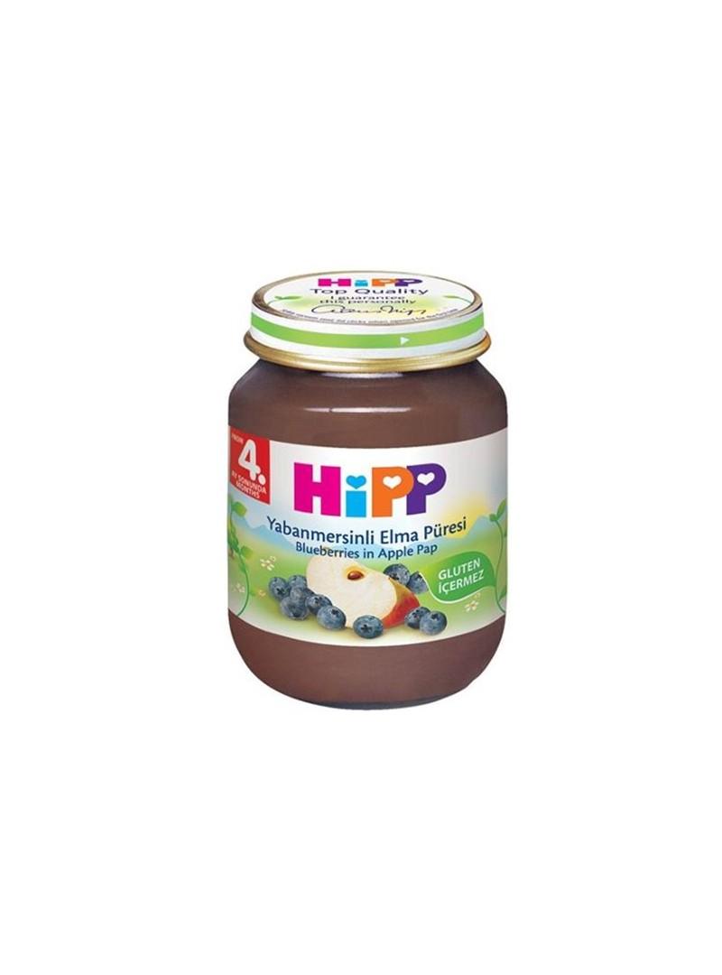 Hipp Organik Yabanmersinli Elma Püresi 125 gr