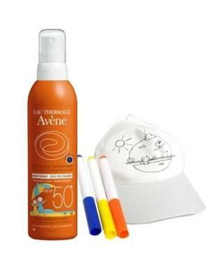 Avene Spray Enfant Spf50 200ml - Boyanabilir Şapka ve 3 Renk Boya Kalemi HEDİYE