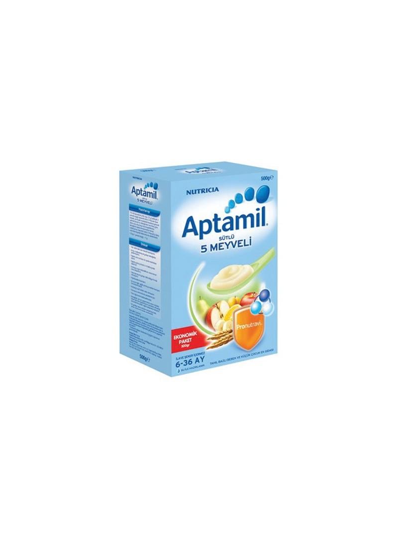 Milupa Aptamil Sütlü 5 Meyveli Kaşık Maması 250 gr.