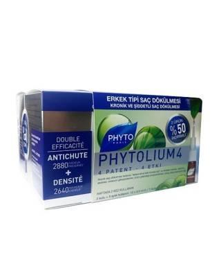 Phyto Phytolium 4 Serum - 12 x 3.5 ml. Erkek Tipi Kronik Saç Dökülmesine Karşı Serum / 2.si %50 İNDİRİMLİ