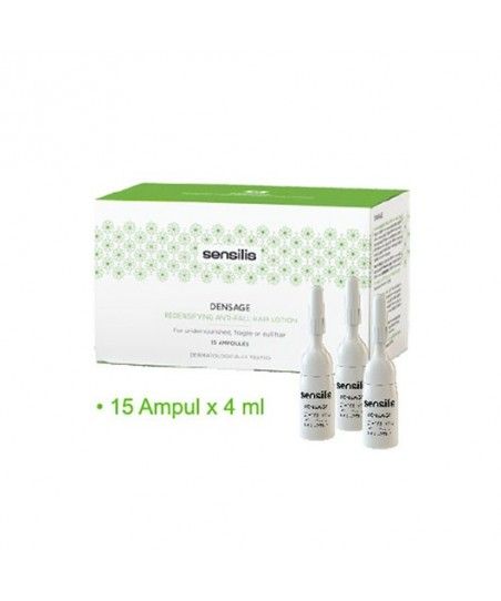 Sensilis Densage Redensifying Repairing Anti-Fall Hair Lotion 15Ampul x 4ml