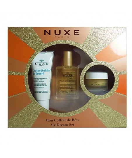 Nuxe My Dream Set - Baume Levres 15g Huile Prodigieuse 30ml Creme
