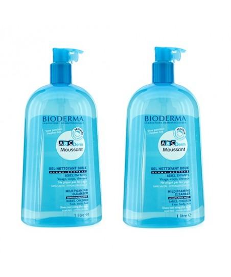 Bioderma Abcderm Foaming Cleanser Yüz Vücut Saç Temizleme Jeli 1 Lt 2 Adet