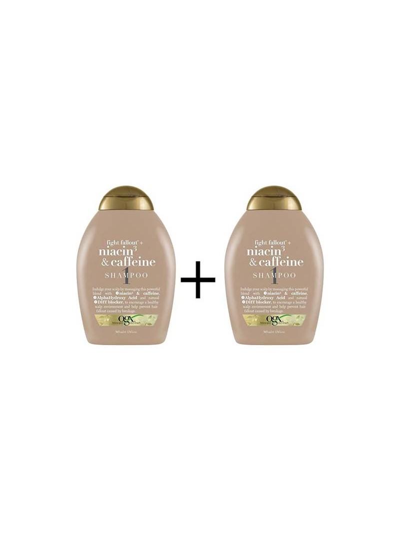 Organix Niacin3&Caffein Shampoo - Dökülmelere Karşı Şampuan 385 ml x 2
