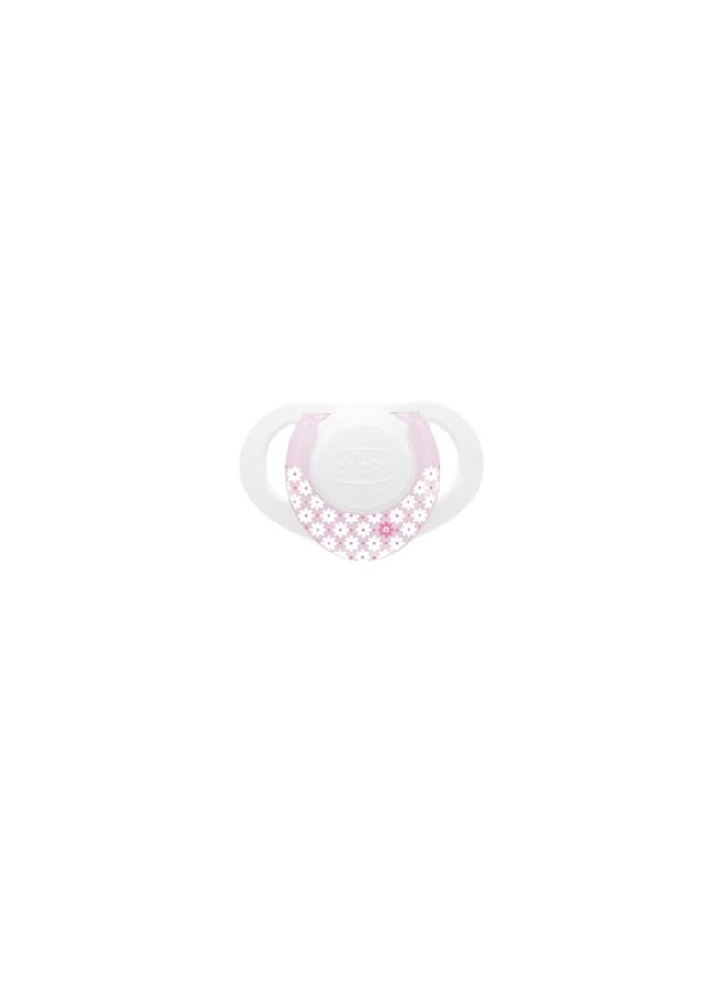 Chicco 5719  Physio Beyaz-Pembe Silikon Emzik 0m+ Tekli