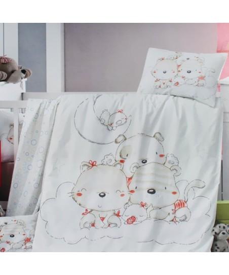 Victoria Empirme Desenli Bebek Nevresim Takımı