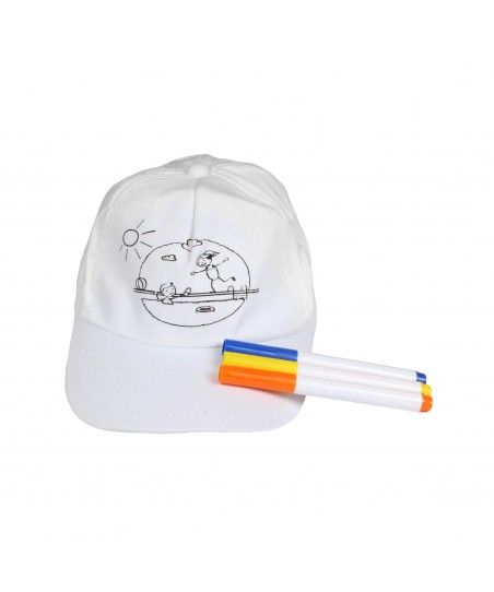 PROMOSYON - Boya Kalemli Çocuk Şapkası