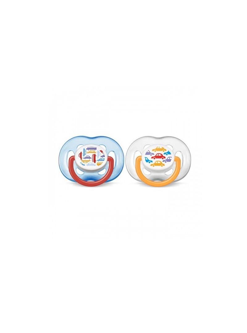 Philips Avent Renkli  Desenli Emzik 2'li (6-18 Ay) SCF172/62