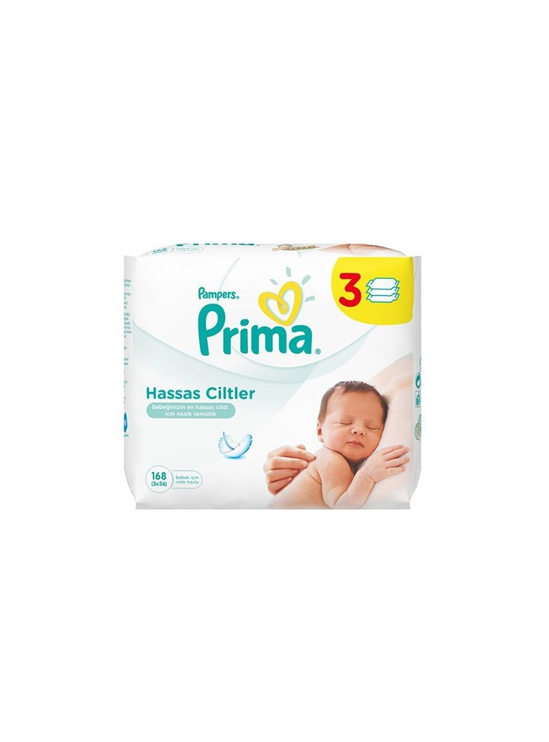 Prima  Pampers Sensitive Islak Havlu Yedek 3 PAKET 56 LI(168 Yaprak)