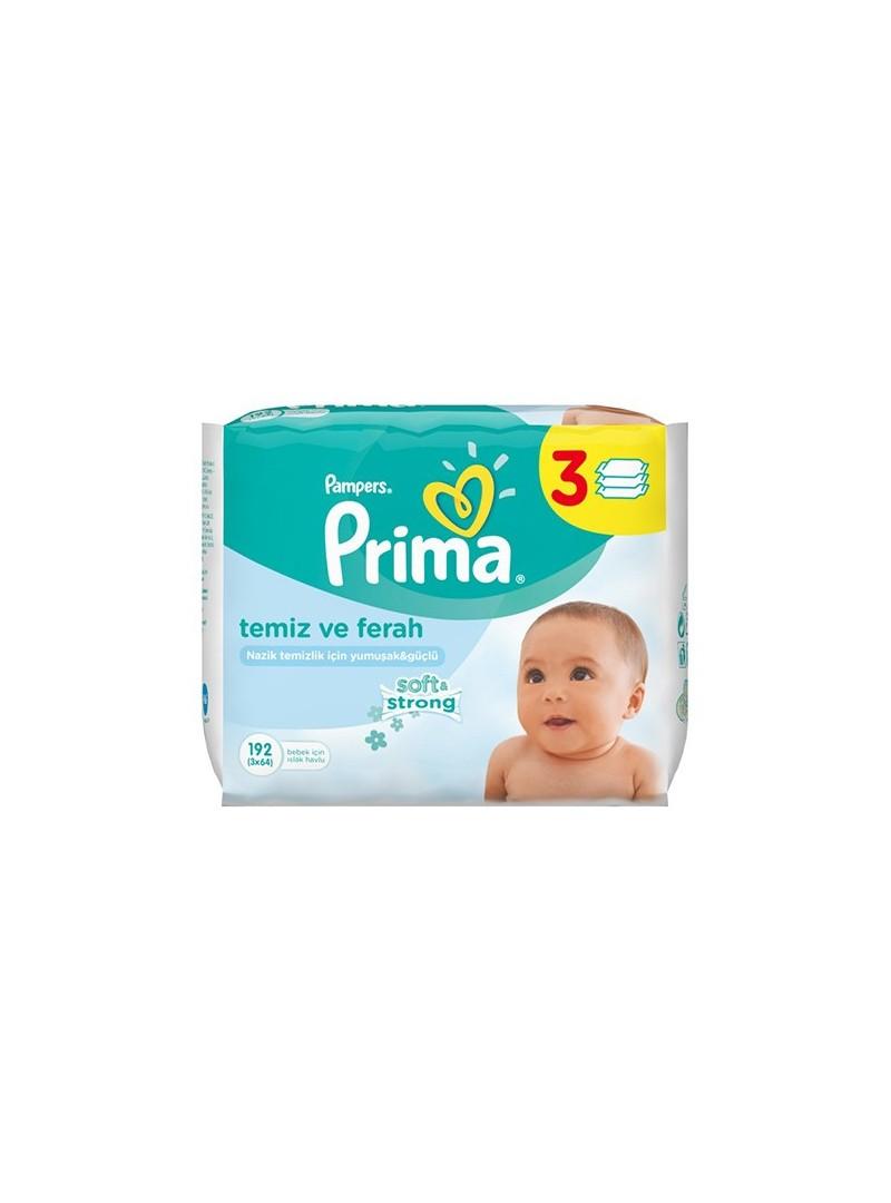 Prima Pampers Baby Fresh Islak Mendil 3`lü Paket (192 Yaprak)