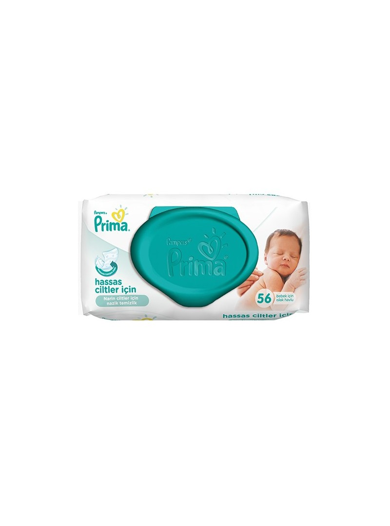 Prima  Pampers Sensitive Islak Havlu Yedek 56 LI