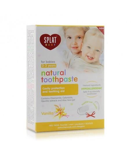 Splat Baby Vanilla 0-3 Yaş Diş Macunu 40ml +Fırçası