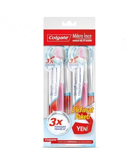 Colgate Diş Fırçası Mikro İnce Hassas Diş Eti Bakımı 1+1