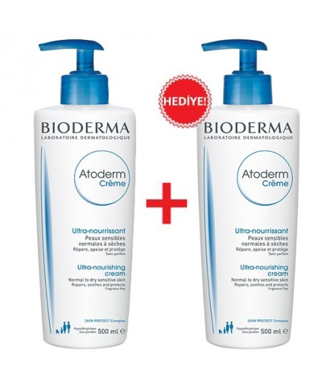 Bioderma Atoderm Cream 500 ml İkincisi Bedava