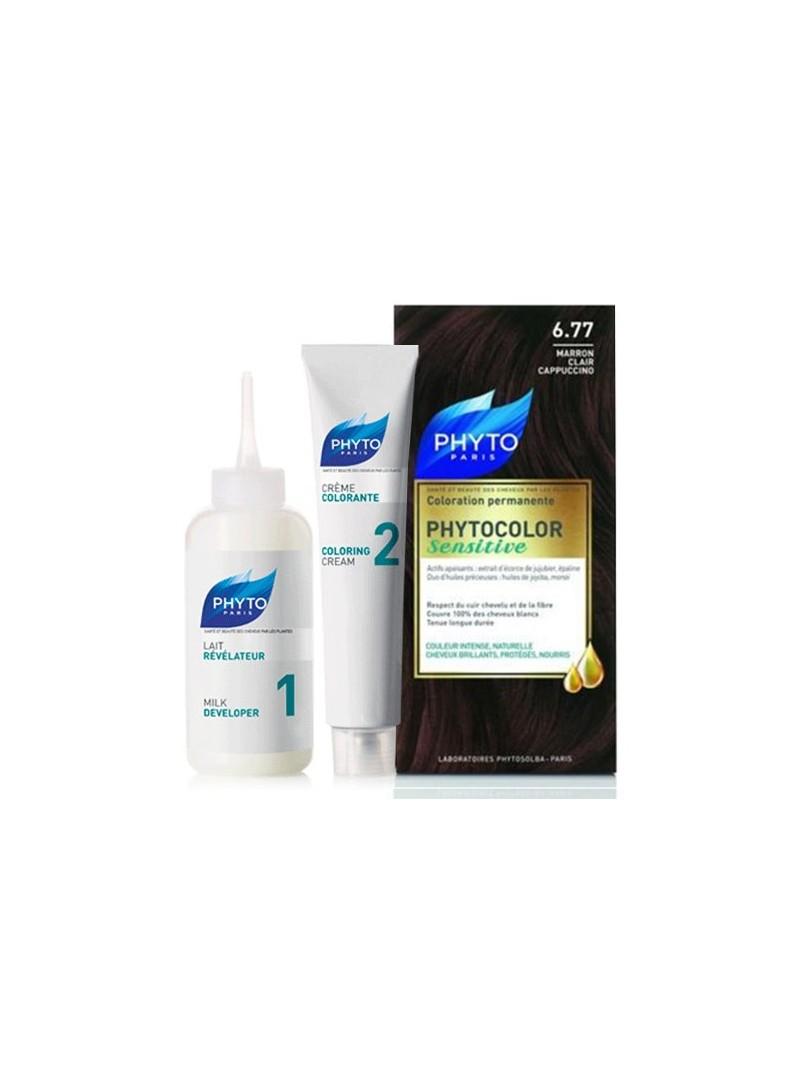 Phyto Phytocolor Sensitive Saç Boyası 6.77 Açık Capuccino Kestane