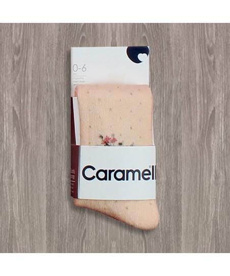 Caramell Benekli Külotlu Çorap