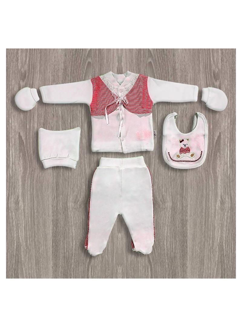 Flexi Baby Ayıcıklı 5'li Hastane Çıkış Seti