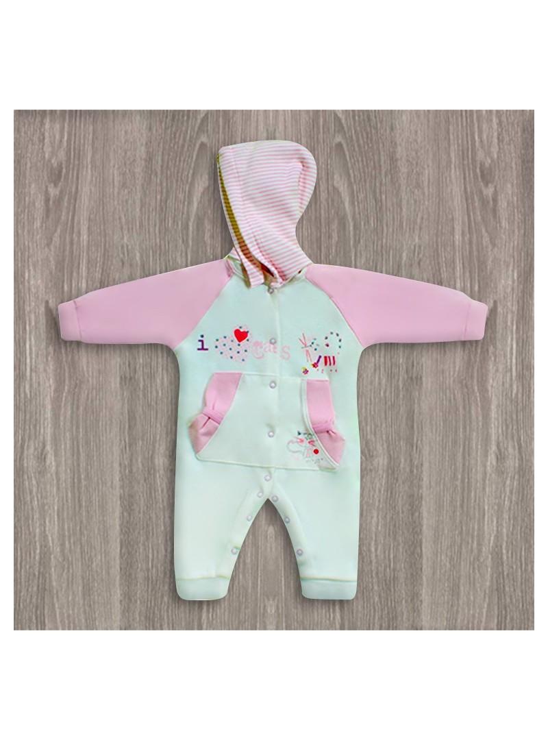 Aziz Bebe Kapşonlu Bebek Tulumu