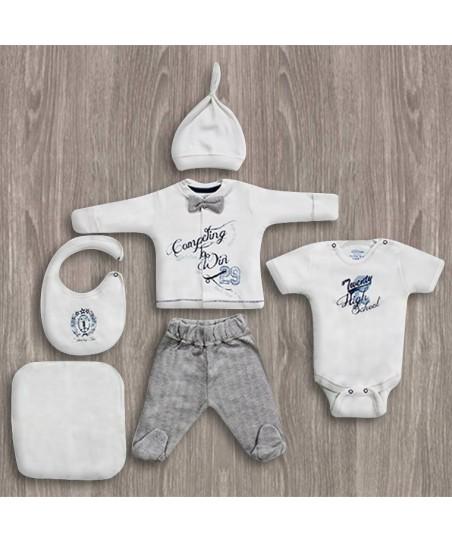Aziz Bebe Fiyonklu 6'lı Yeni Doğan Bebek Seti