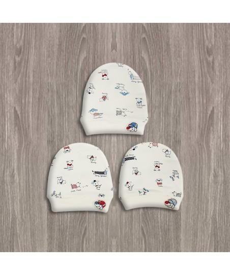 Sebi Ekru 3Lü Bebek Şapkası