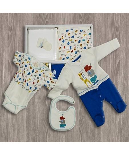 Aziz Bebe Fil Desenli 10'lu Yeni Doğan Bebek Seti