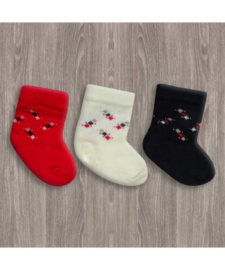 Sebi 3'lü Bebek Çorabı