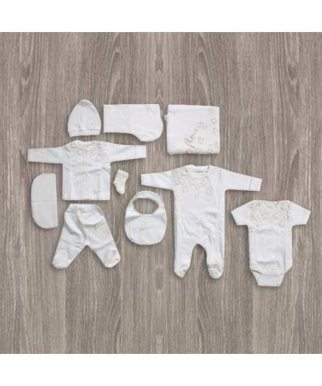 Aziz Bebe Simli 10'lu Yeni Doğan Bebek Seti